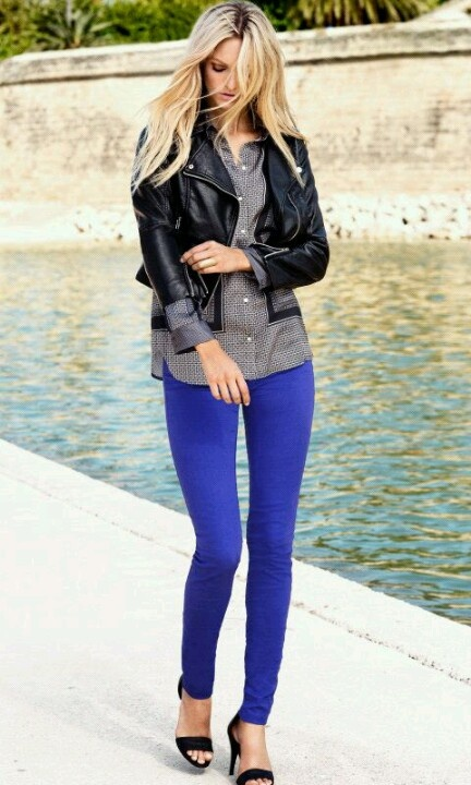 In love with royal blue jeans<3