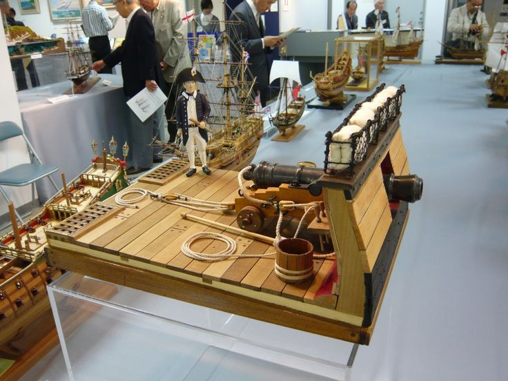A superbly detailed model of Kydd on the quarterdeck crafted by Mr Shuji Onada in Japan.
