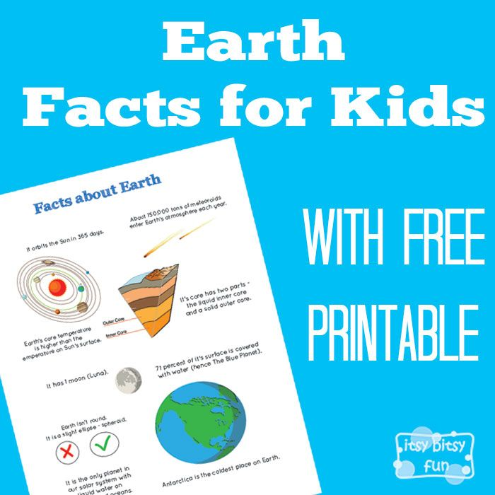 There are so many interesting facts about planet Earth. Let's learn with facts about Earth for kids! We went through the solar system facts for kids the other day and now it's time to take a closer look at our home planet. So this one has to be the most awesome planet out there (true...Read More »