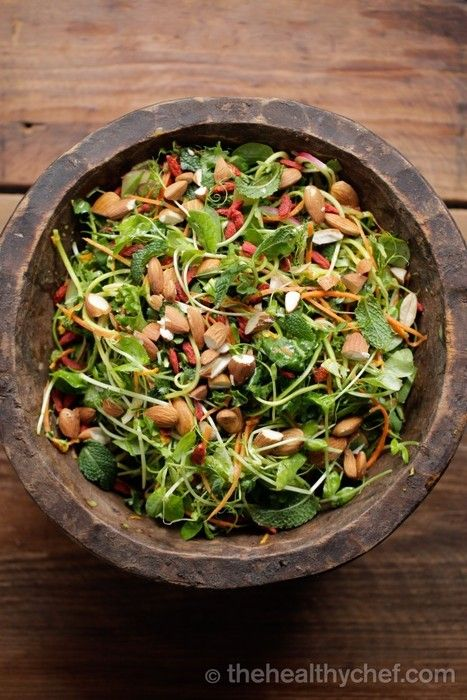 Teresa Cutter, The Healthy Chef, is a force to be reckoned with in the culinary world. This Pad Thai Salad with Coconut Lime Dressing is Vegan, Gluten Free and Grain Free.