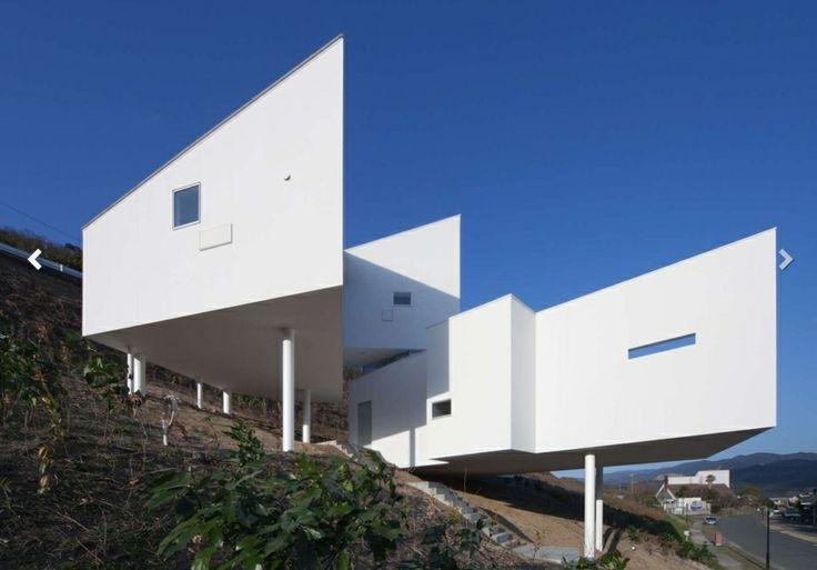 maison contemporaine sur pilotis 8008 par hiroyuki arima. Black Bedroom Furniture Sets. Home Design Ideas