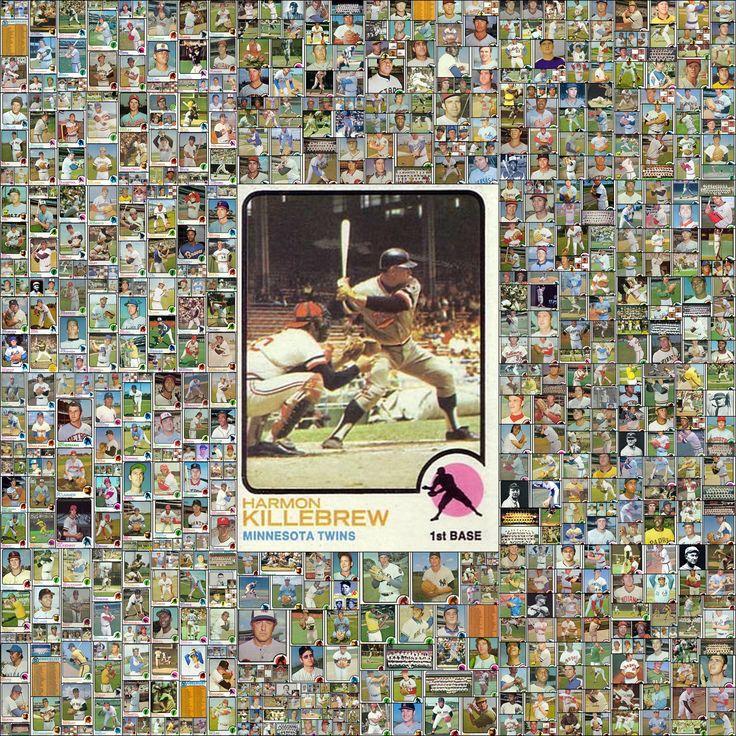 1973 topps baseball cards complete set collage baseball