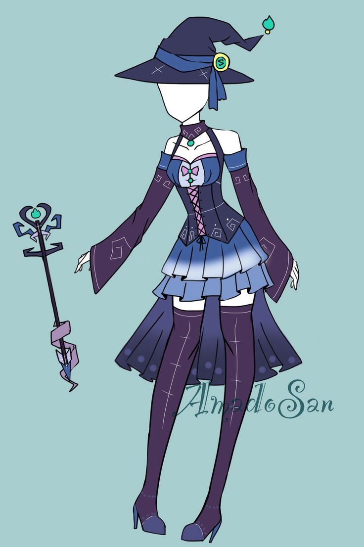 Witch outfit adoptable CLOSED by AS-Adoptables.deviantart.com on @DeviantArt