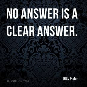 no answer is an answer - Google Search