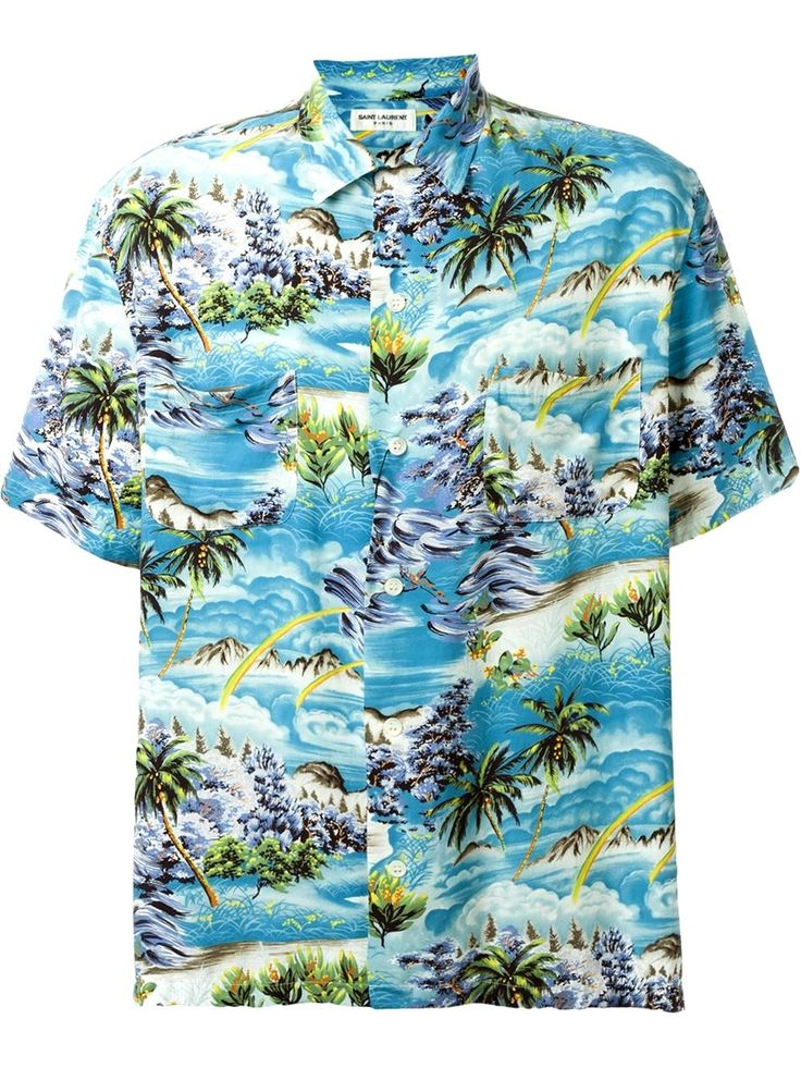 Saint Laurent Palms Hawaii Short Sleeves Men's Shirt │Represented By Harry Styles