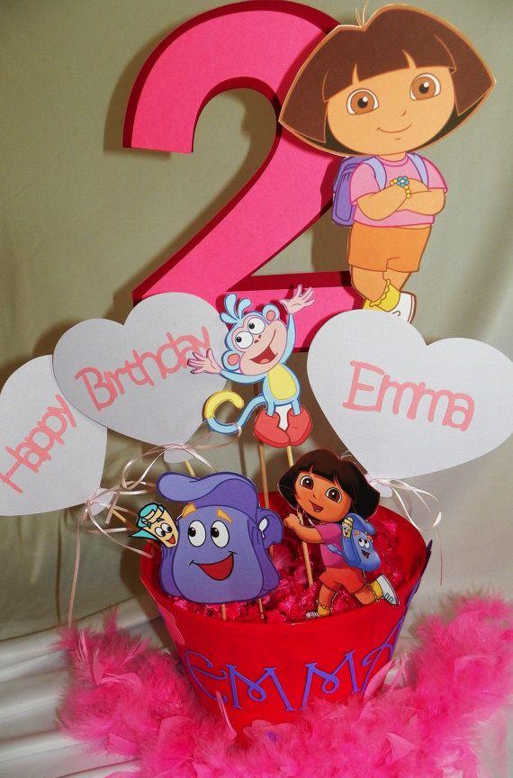 Dora The Explorer Birthday Party Centerpieces