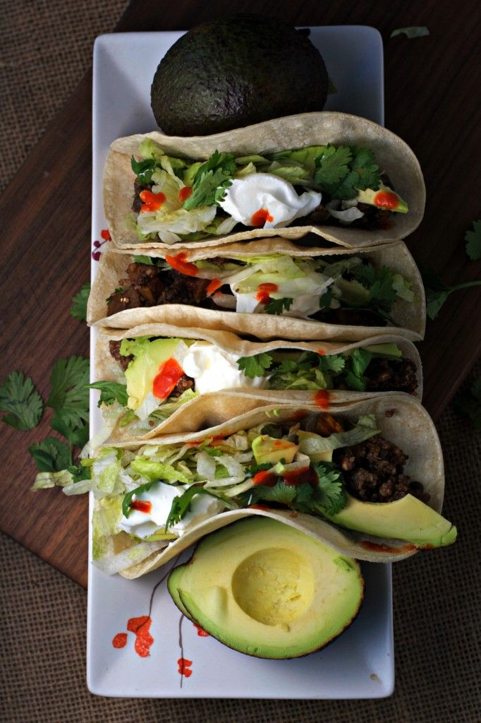Crockpot Quinoa Lentil Tacos ~ Break out the crockpot for simple and healthy weeknight meals!