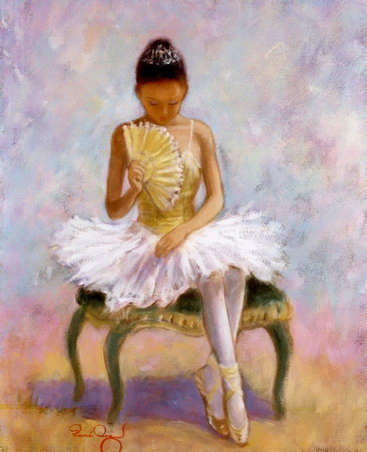 BALLERINA Dancer Fan Ballet Dancing Shoes Dress Tutu