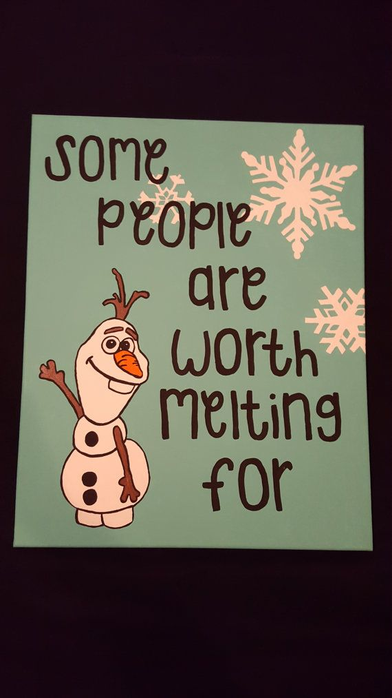 Some people are worth melting for frozen canvas ready for purchase!  https://www.etsy.com/listing/248051576/16x20-frozen-canvas-painting