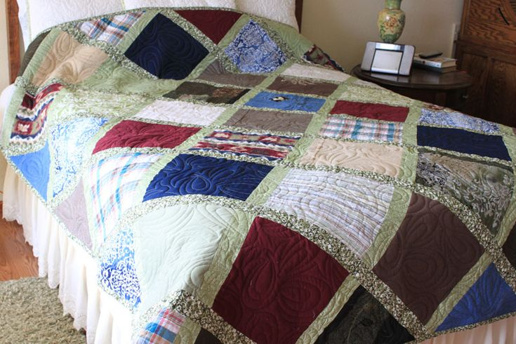 """We believe memory quilts are far too special to use the """"cookie cutter"""" approach most quilt companies employ. Description from abetterquilt.com. I searched for this on bing.com/images"""