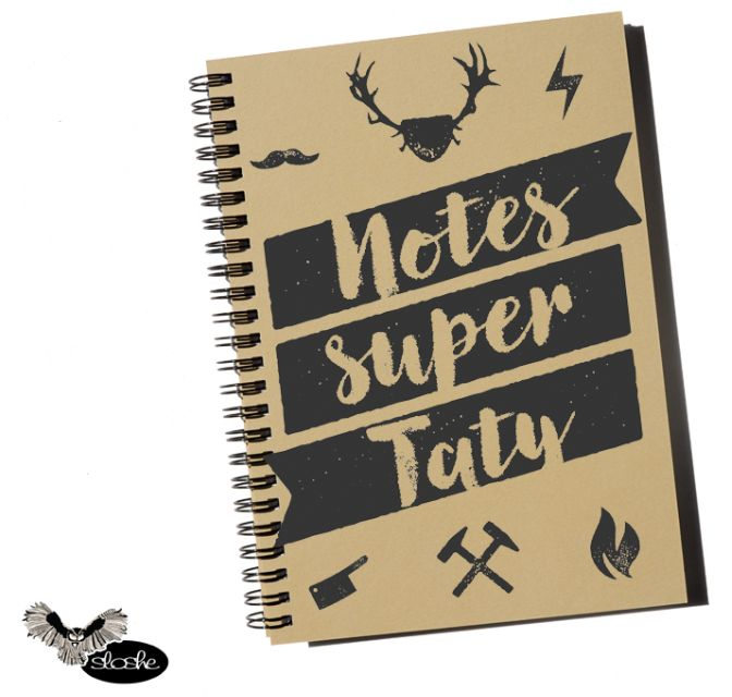 Notes Super Taty, notatnik A5 z eko papieru