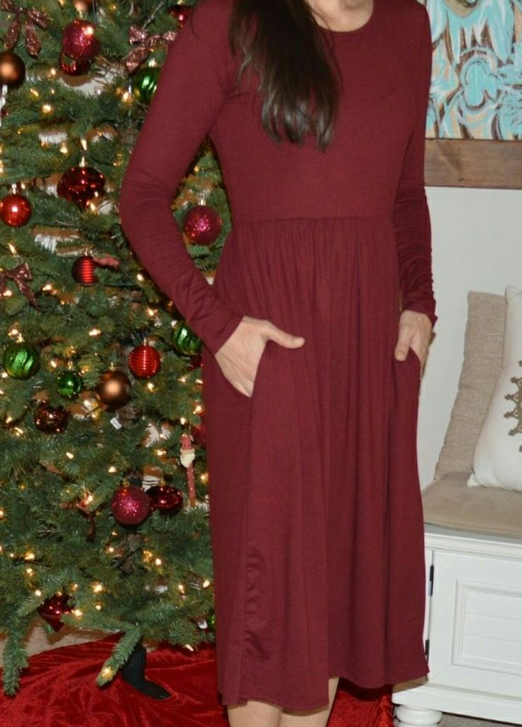 Ladies boutique clothing, Maplewood Row boutique, wine colored dress with pockets  https://www.facebook.com/groups/241381169722347/