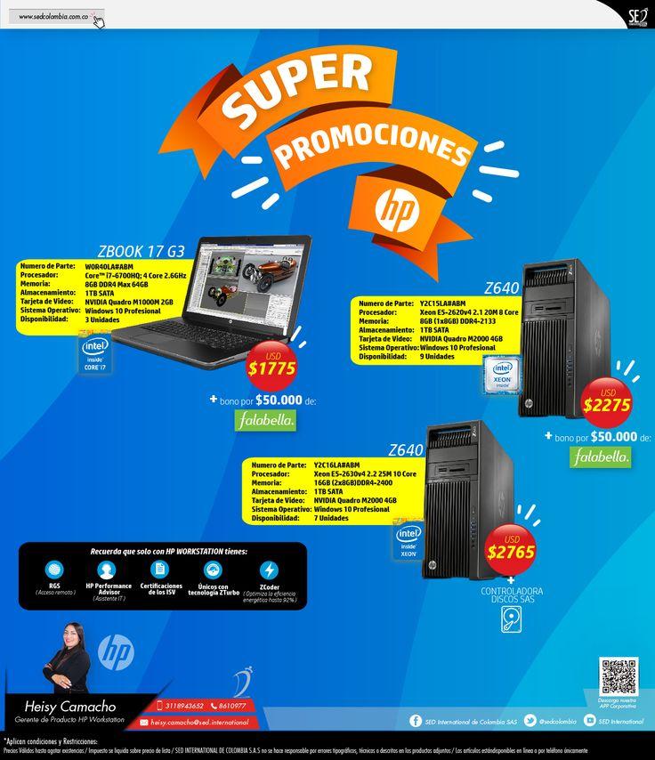 Super Promociones HP WorkStation: Contacta a tu gerente de producto para más información: Heisy Camacho Celular: 310 773 8901 Email: heisy.camacho@sed.international #HP #SED #SEDCOLOMBIA