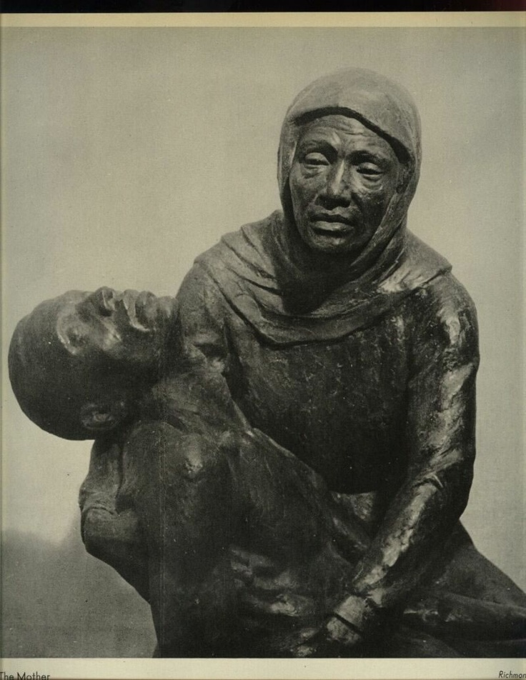 """Mother and Son""(1939), African Americans as victims of racial violence. Richmond Barthé (1901-1989) was a pioneer in American sculpture in the 1930s and 1940s in that he was one of the first African American artists to focus thematically on the lives of blacks, both in the United States and in Africa.  Also read more: http://www.answers.com/topic/richmond-barth#ixzz2LotxaJ9n"