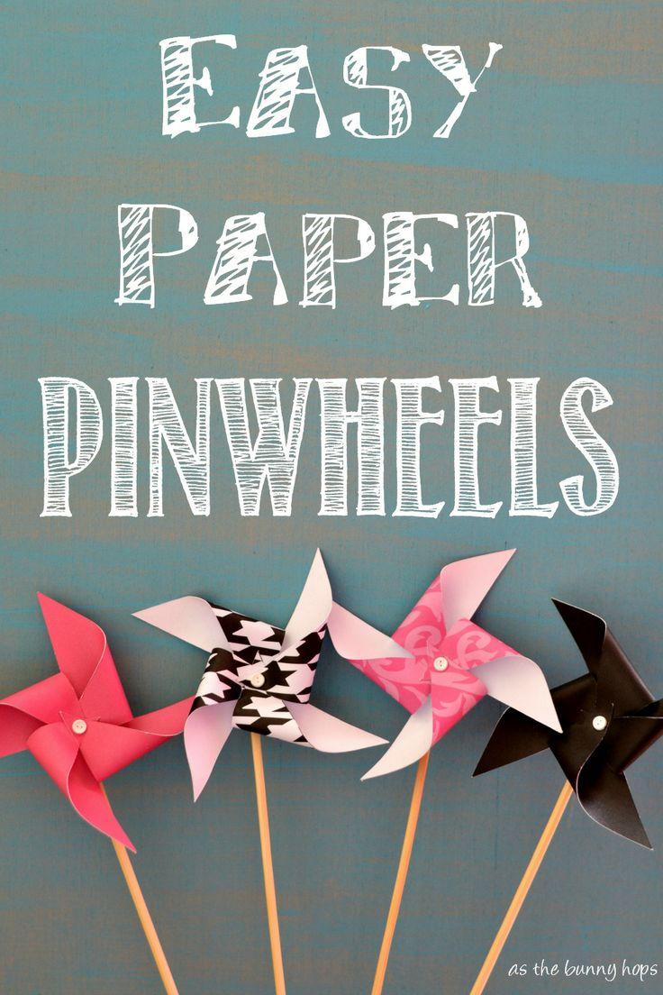 Easy Paper Pinwheels Paper Pinwheels, Pinwheels and Diy Paper