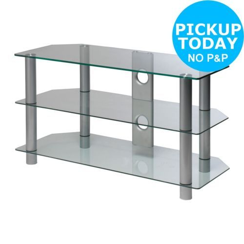 #Clear glass 42 inch rectangular tv #stand. from the official #argos shop on ebay,  View more on the LINK: 	http://www.zeppy.io/product/gb/2/361768260688/