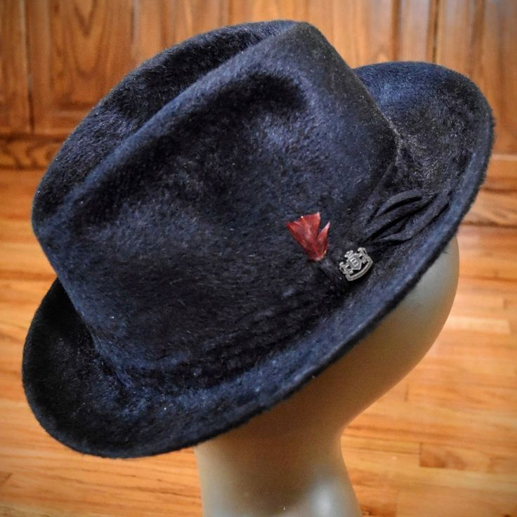 Vtg mens biltmore #grand beaver fur #fedora hat 7 1/2 w tag + free #dobbs hat box,  View more on the LINK: http://www.zeppy.io/product/gb/2/112063229019/