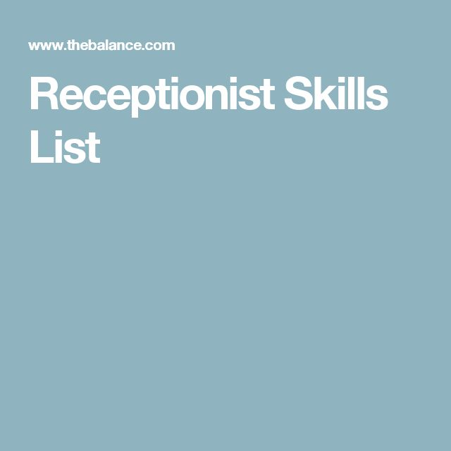 10 best Work\/School images on Pinterest Sample resume, Resume - receptionist resume skills