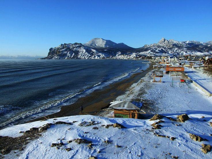 Зимний пляж в Коктебеле