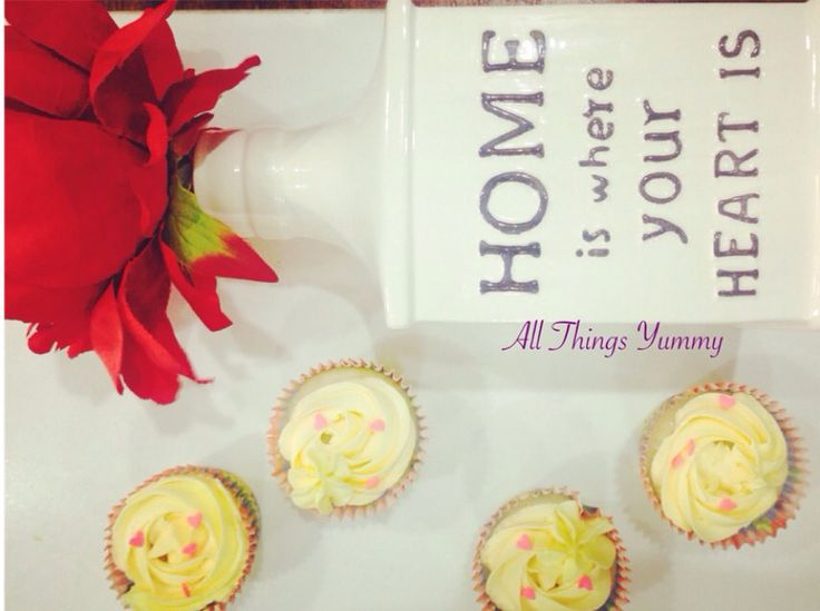 Home is where the cupcakes are :) #cupcakes #cuppies #lemoncupcakes #lemon #sprinkles #hearts #flower #desserts #delhibakery #baked #bakedgoods #lemoncuppies #lemonbuttercream #buttercreamicing #rosettes #cutecupcakes #foodphotography #happycolors #baker #nomnom #atyummy