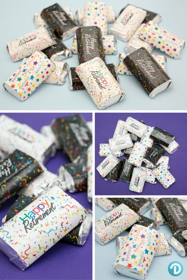 Table Decoration Ideas For Retirement Party elegant table decorations for party elegant table design by detailz events inc Retirement Party Decoration Favor Stickers For Hersheys Miniatures Candy Bars Set Of 54