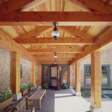 Open Beam Front Porch Designs 1 888 Exposed Beams Porch