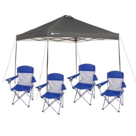 #Walmart: Ozark trail 10x10 Canopy Tent  4 Folding Mesh Chairs - $74 plus tax #LavaHot http://www.lavahotdeals.com/us/cheap/ozark-trail-10x10-canopy-tent-4-folding-mesh/108294