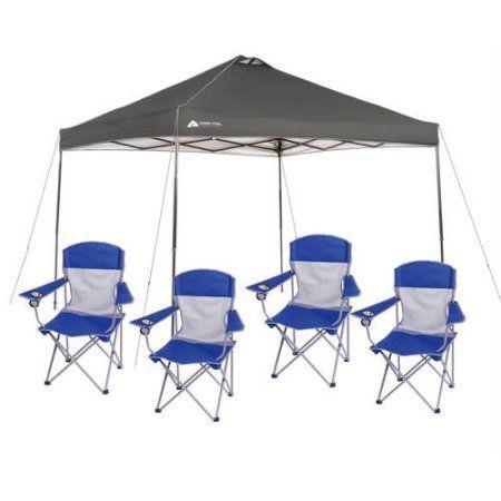 #Walmart: Ozark trail 10x10 Canopy Tent  4 Folding Mesh Chairs - $74 plus tax #LavaHot http://www.lavahotdeals.com/us/cheap/ozark-trail-10x10-canopy-tent-4-folding-mesh/108294