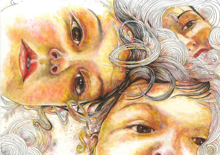 Ladies & gentlemen, we 're floating in space #1  / custom portrait (42 x 29,7, ink on paper)