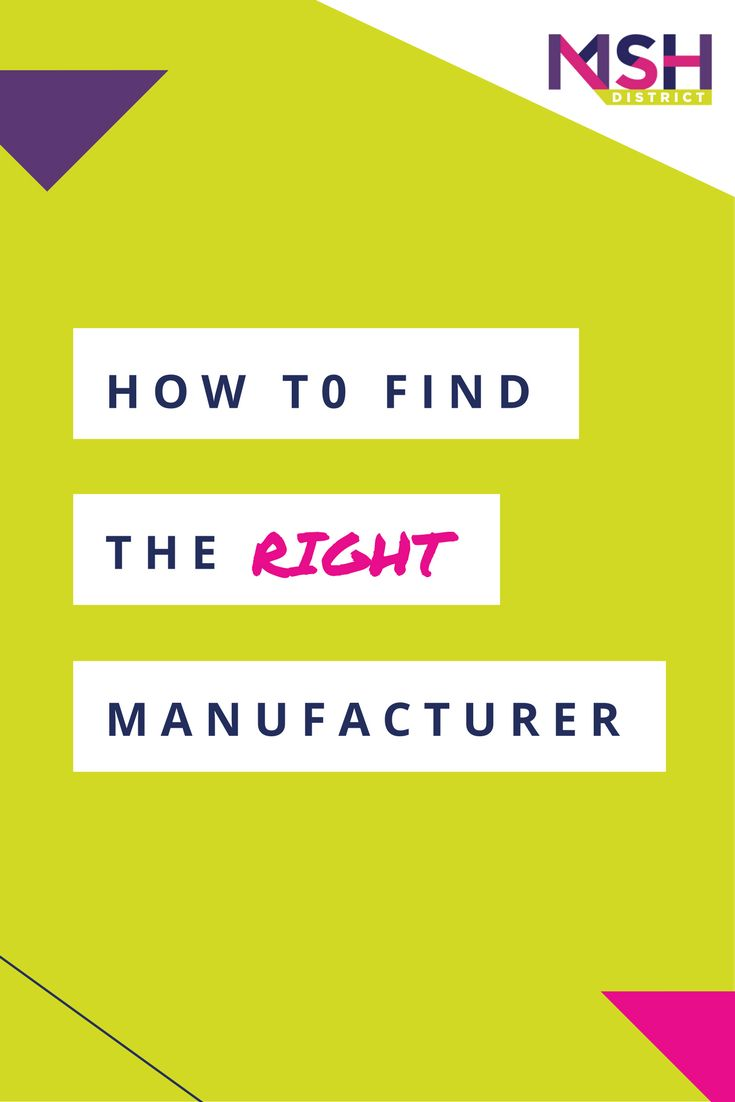How to Find the Right Manufacturer — MSH District | Fashion Startup Fund. Are you working with the right manufacturer? Are you trying to decide who is the right fit? Guess what - working with the wrong one is the most costly mistake you can make. Listen to our strategy session this week to help you make the right decision.