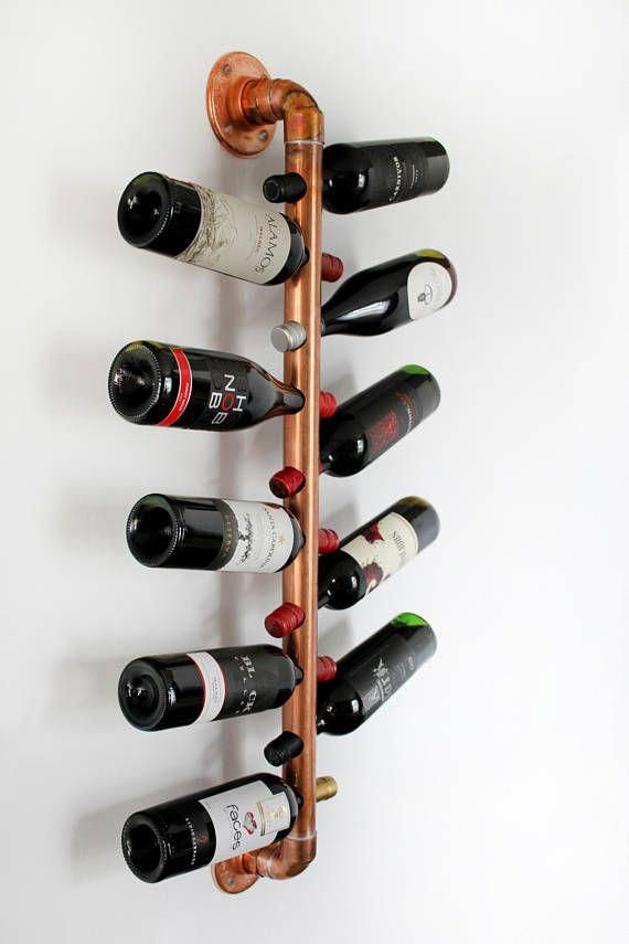 Copper Hanging Wine Rack Wall Mounted Modern Wine Holder For Winerack Modern Wine Rack Wine Rack Wall Hanging Wine Rack
