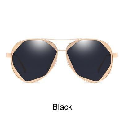 TWO Oclock Oversized Pilot Sunglasses Women Brand Designer Transparent Glasses Frame Aviation Female Shades X2366