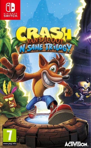 Crash Bandicoot: N. Sane Trilogy for Nintendo Switch up for preorder on spanish website Xtralife http://bit.ly/2lnzap3 #nintendo