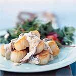 Scallops in Champagne Sauce Recipe | MyRecipes.com