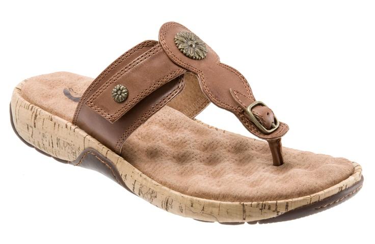 Softwalk Women's Sandal, Boulder (Luggage), Womens Orthopedic Sandals