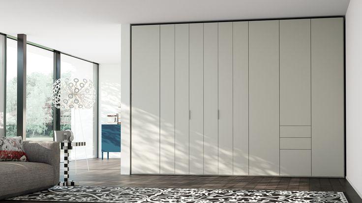 LINEARE  Caccaro. Con il sistema di apertura ad anta pieghevole brevettato Caccaro, Lineare si adatta anche a spazi di ridotte dimensioni, senza ingombrare l'ambiente una volta aperto.