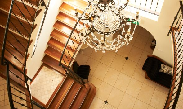 Staircase at Villa Howden