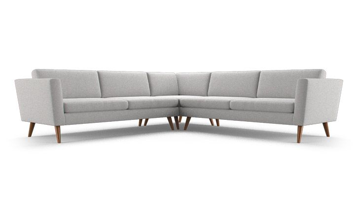 Clean lines and a low profile allow this sectional to blend into your space, while your choice of fabric or leather can also make it pop.
