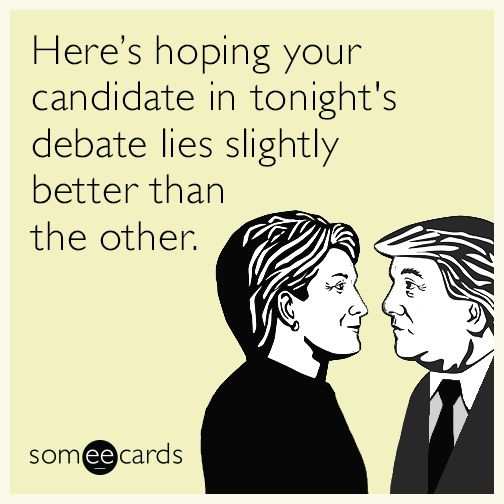 They're about equally matched there, I'd say. But only 1 of them's a real candidate, the other's an explanation for Hillary winning.