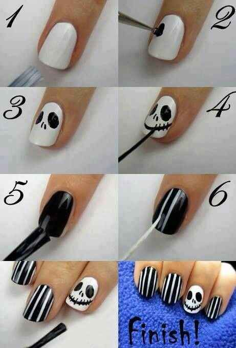 Twas the Nightmare Before Christmas | 21 Easy Holiday Nail Designs