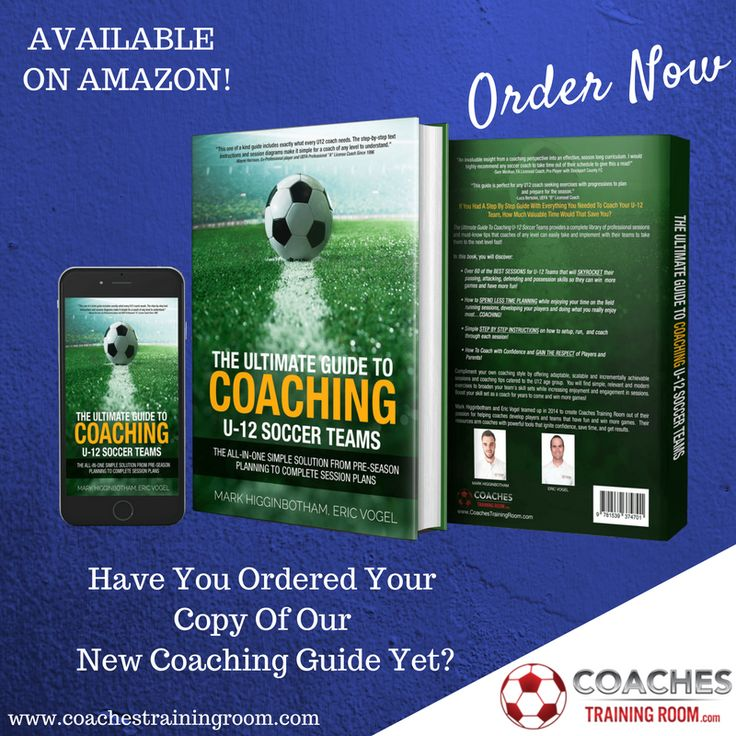 Order Today! The Ultimate Guide To Coaching U-12 Soccer Teams provides a complete coaching library of professional sessions and must-know tips that coaches of any level can easily implement with their teams to take them to the next level FAST! https://coachestrainingroom.com/u12book #ayso #youthsoccer #coachingsoccer #soccerdrill #soccerdrills #soccercoaches #nikesoccer #nscaa #youthcoach #kidssoccer #ussoccer #uswnt #usmnt #barclays #soccertraining #soccerplan #soccerplans #soccersession