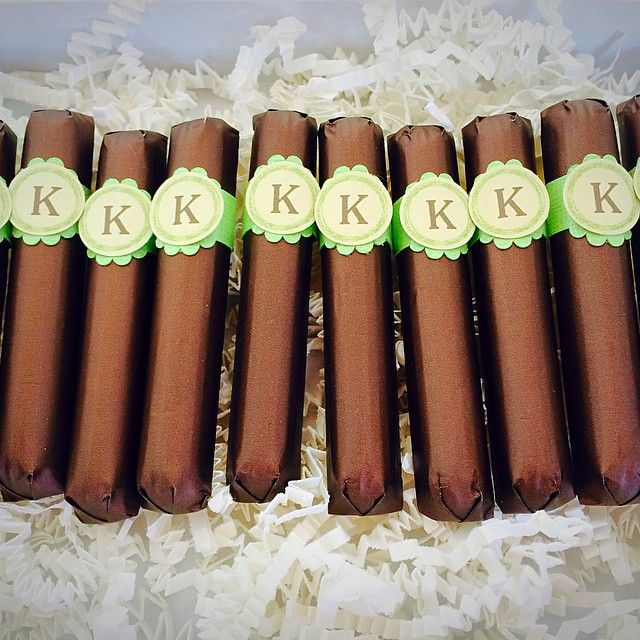 Superb Baby Shower Cigars Part - 9: #custom #belgian #chocolate #cigar #favors For Your #babyshower These Were