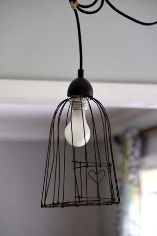 88 best wire art images on pinterest wire sculptures sculpture little heart bird cage pendant light greentooth Images