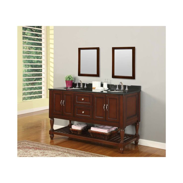 Direct Vanity 5060d10 Esbk 60 Mission Turnleg Style Double Bathroom Vanity Sink Console