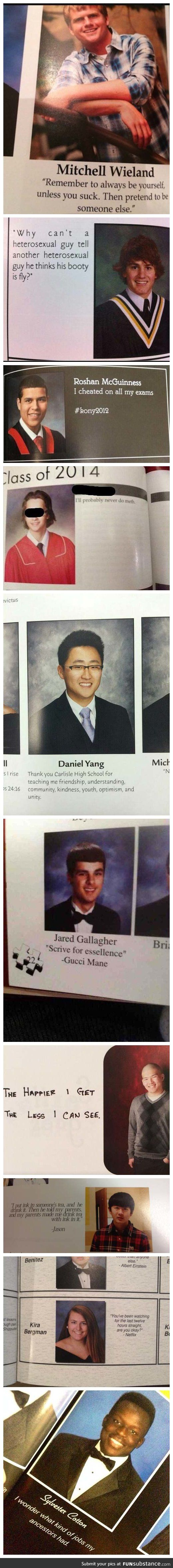 Some of the best senior yearbook quotes