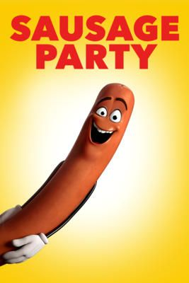 Sausage Party (2016)    Sausage Party, the first R-rated CG animated movie, is about one sausage leading a group of supermarket products on a quest to discover the truth about their existence and what really happens when they become chosen to leave the grocery store.