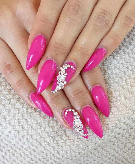 pink stiletto nails ideas