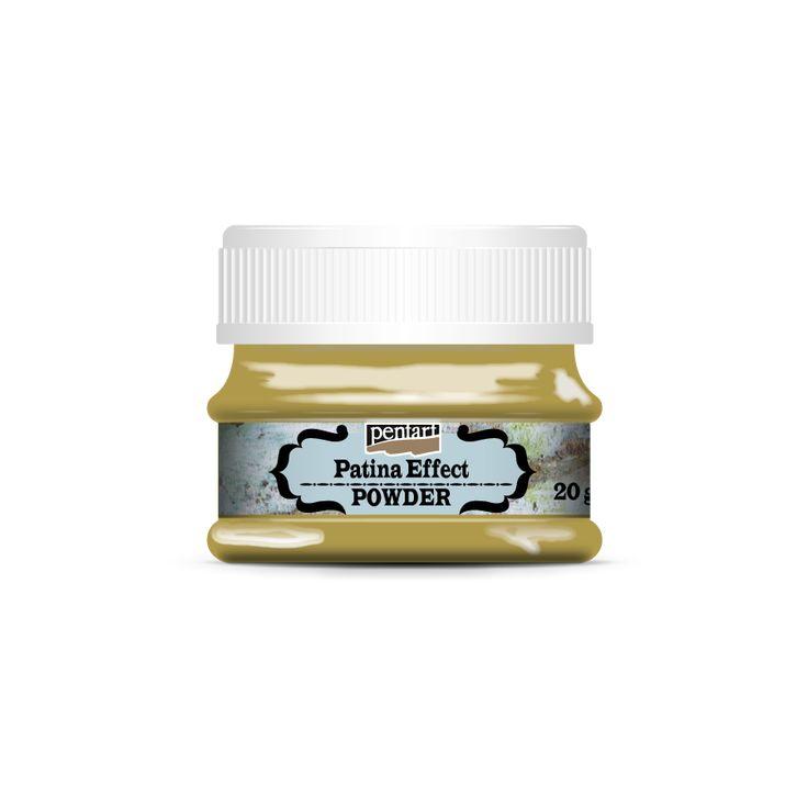 Patina Effect powder - Patina effekt por // Antik, patinás réztárgyak felületét utánozhatjuk a Patina effekt por használatával. Az antikolandó felületen képezzünk egy olyan réteget, amibe a Patina effekt port szórjuk – ez lehet alapozó paszta vagy Pentart öntapadó ragasztó. Stencilező ecsettel finoman nyomjuk a még nedves felületbe a szemcséket, majd csepegtessünk rá váltogatva a különböző patina-színeket eredményező reagensekből. A reagensekkel elérhető hatások megismerésére végezzünk…