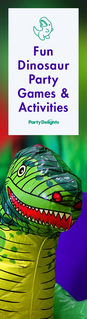 Get loads of ideas for fun dinosaur party games - perfect for a pre-school party or a kids' birthday!