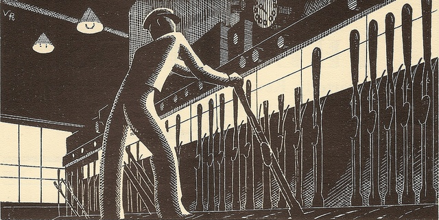 Southern Railway - Over the Points - illustration by Victor Reinganum - Three Bridges resignalling, 1932 by mikeyashworth, via Flickr